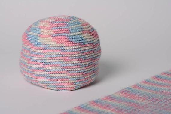Conjunto de gorro y bufanda tejidos a dos agujas de lana artesanales: Amazon.es: Hogar