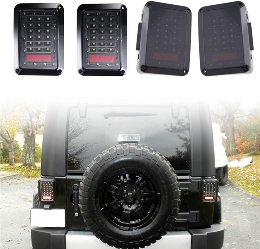 Domilay LED 3Rd Third Brake Light+Spare Tire Brake Light Wheel Light for Jeep Wrangler JK Brake Tail Light Lamp Rear High Mount Stop Light