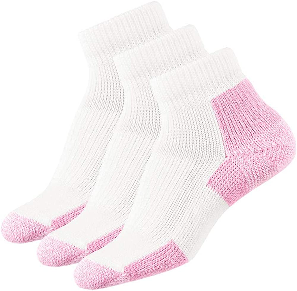 Thorlos Walking Socks for Men or Women Solid White Crew Imperfect 3 Pack