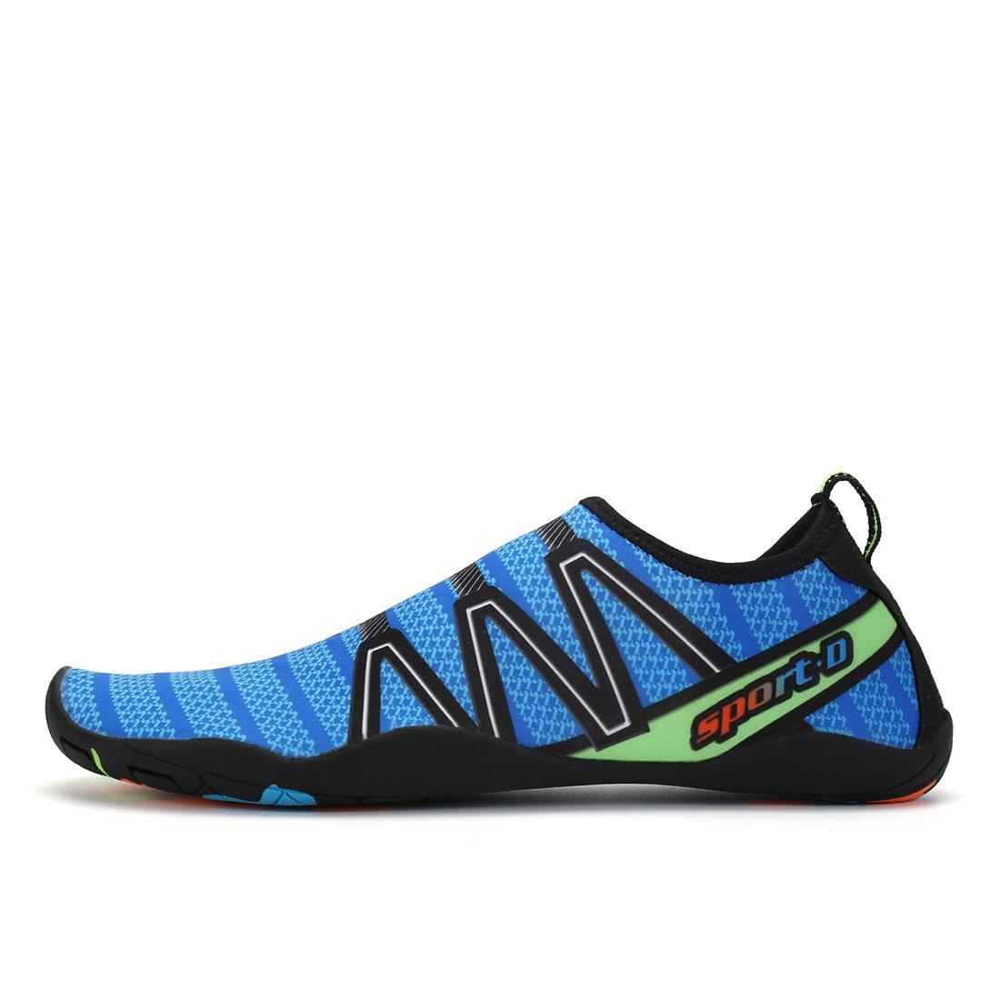 d5fff79c28bdd Zapatos de agua Kuuland Secado rápido descalzo Aqua Socks Beach Swim Pool Surf  Zapatos para nadar Buceo caminando Yoga Hombres Mujeres Azul