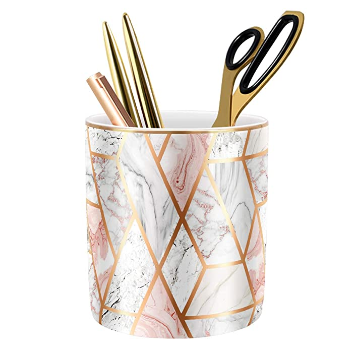 Top 9 Rose Gold And Marble Decor Pencil Holders