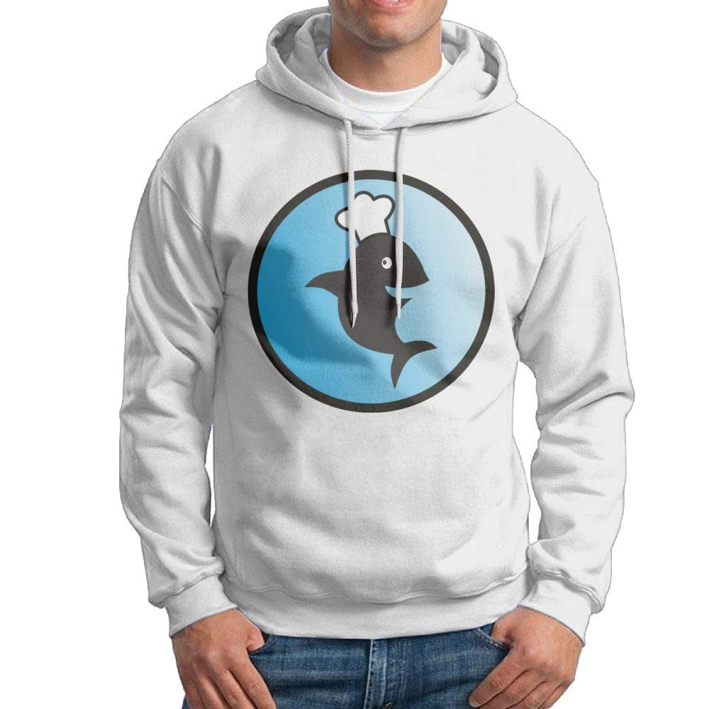 Arsmt Hooded Sweatshirt Men Fashion Pullover Fleece Hoodie Smiling Dolphin Chef