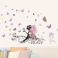 eenkula Papillon Fleur Fée Autocollants, Nouvelle Mode Chambre Salon Wall Stickers