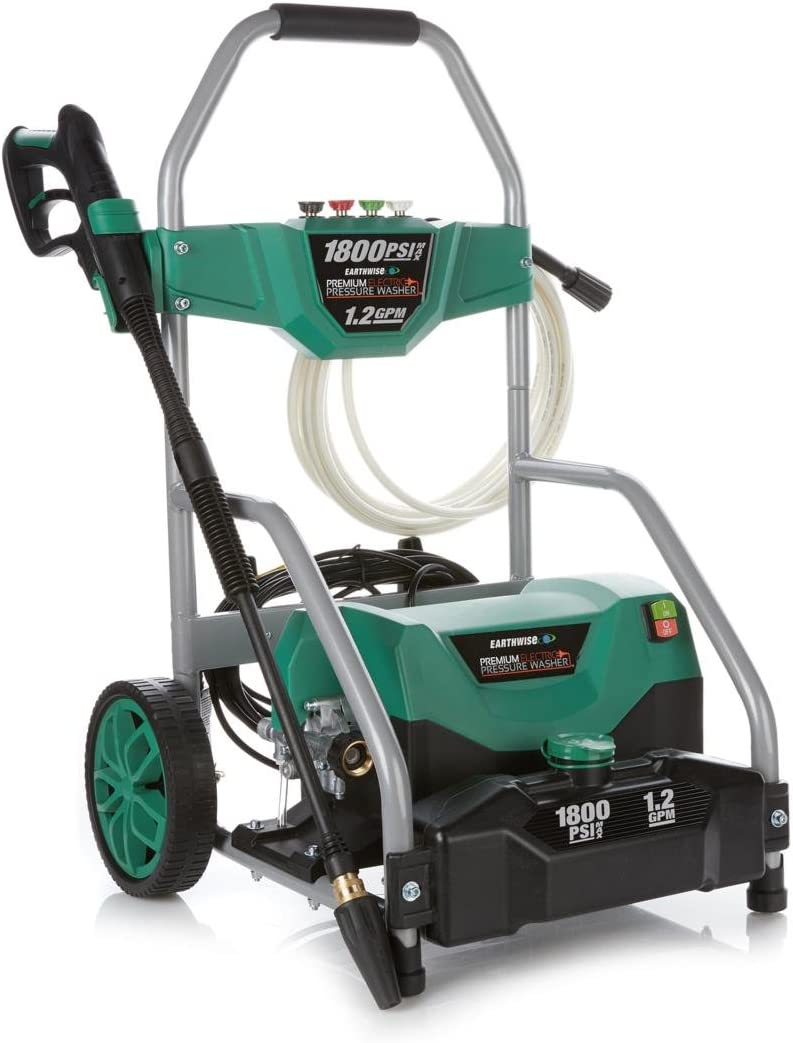 Earthwise PW18004FS-GN 1800 PSI 1.2 GPM 13-Amp Pressure Washer