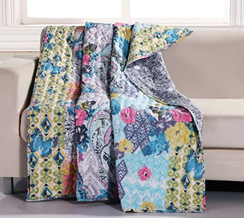 yellow throw quilt - 6