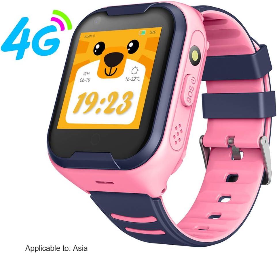 HU-Sports WatchTeléfono Smart Watch para niños, Reloj rastreador GPS para niños con Reloj Inteligente SOS con Alarma Anti-pérdida y Pantalla táctil para niños de 3 a 12 años Niños Niñas Niños,A