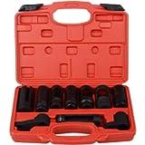 DA YUAN 10Pcs Oxygen Sensor Socket Set Sensor Oil Pressure Sending Unit Removal Kit