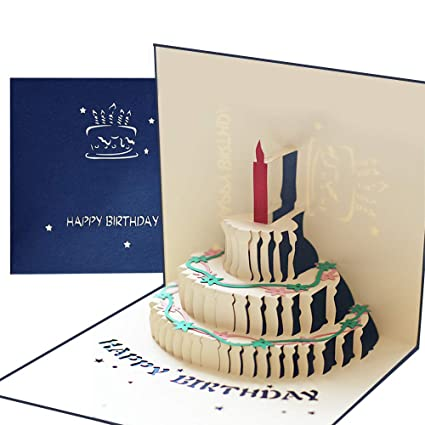 3D Kuchen Grußkarte Torte Geschenk Karte Für Weihnachten Geburtstag TOP