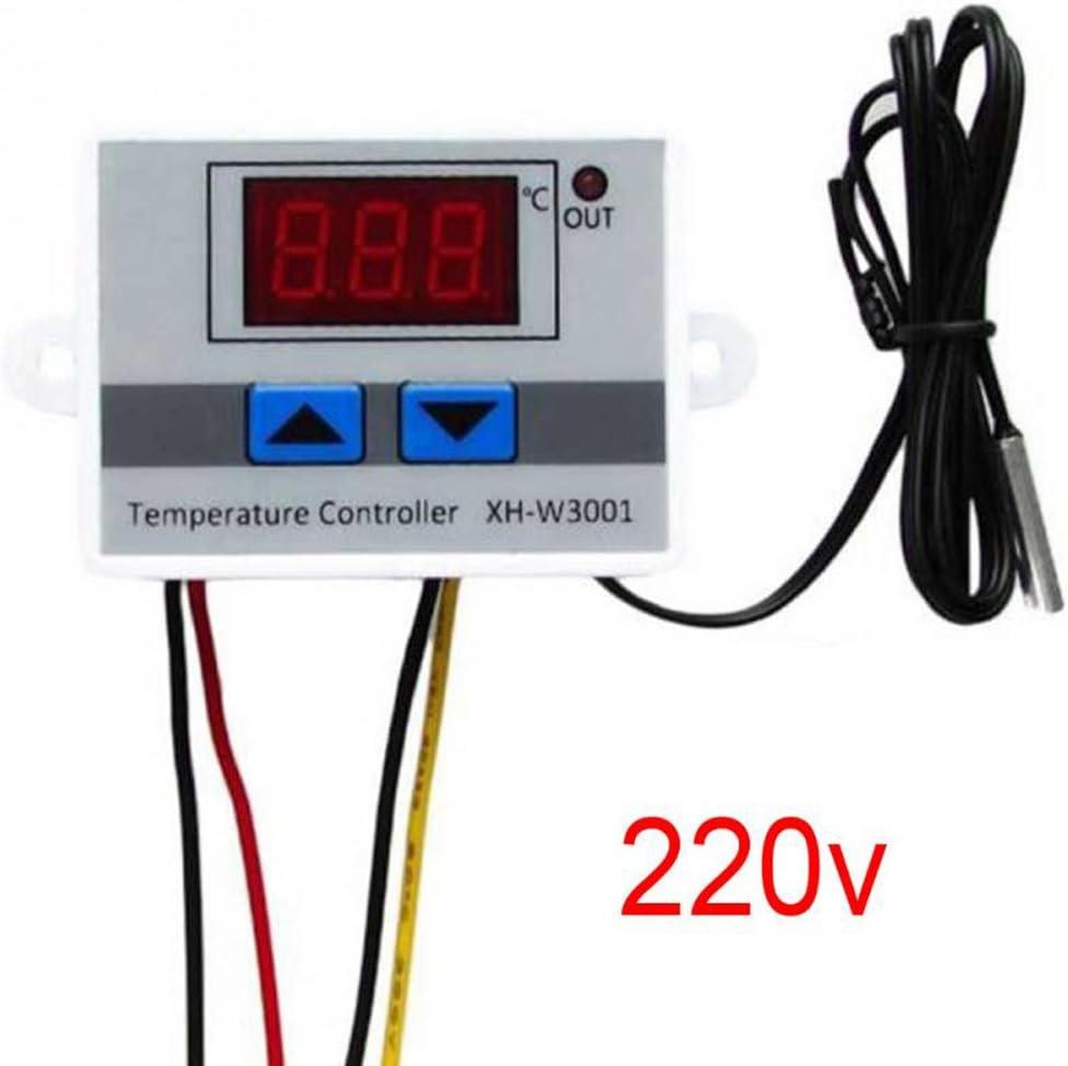 KKmoon Regulador de temperatura con pantalla LCD digital y termostato de microordenador 220V 220v