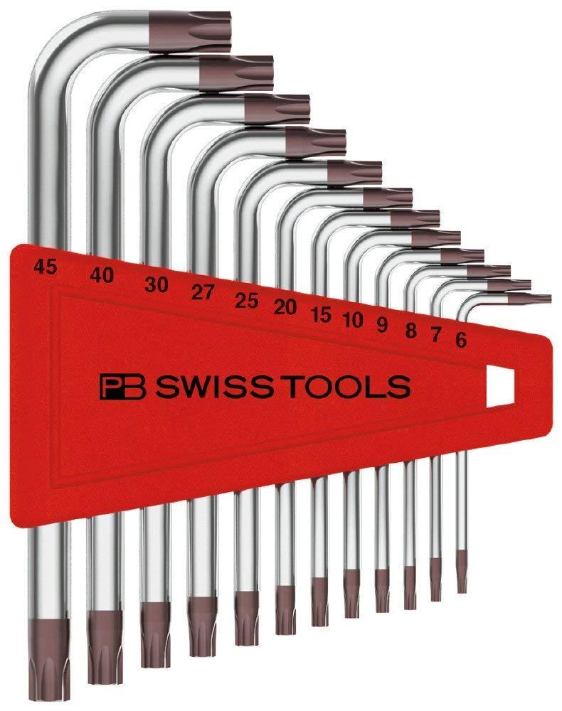 PB Swiss Tools PB-410.H6-45 Short Torx© Key L-wrench Set (T6-T45)