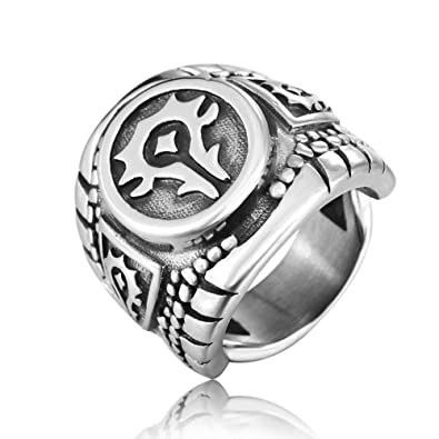 Amazon.com: Wow World of Warcraft – Anillo de insignia de ...