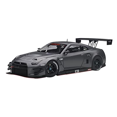 Nissan GT-R Nismo GT3 Dark Matt Grey 1/18 by Autoart 81583: Toys & Games