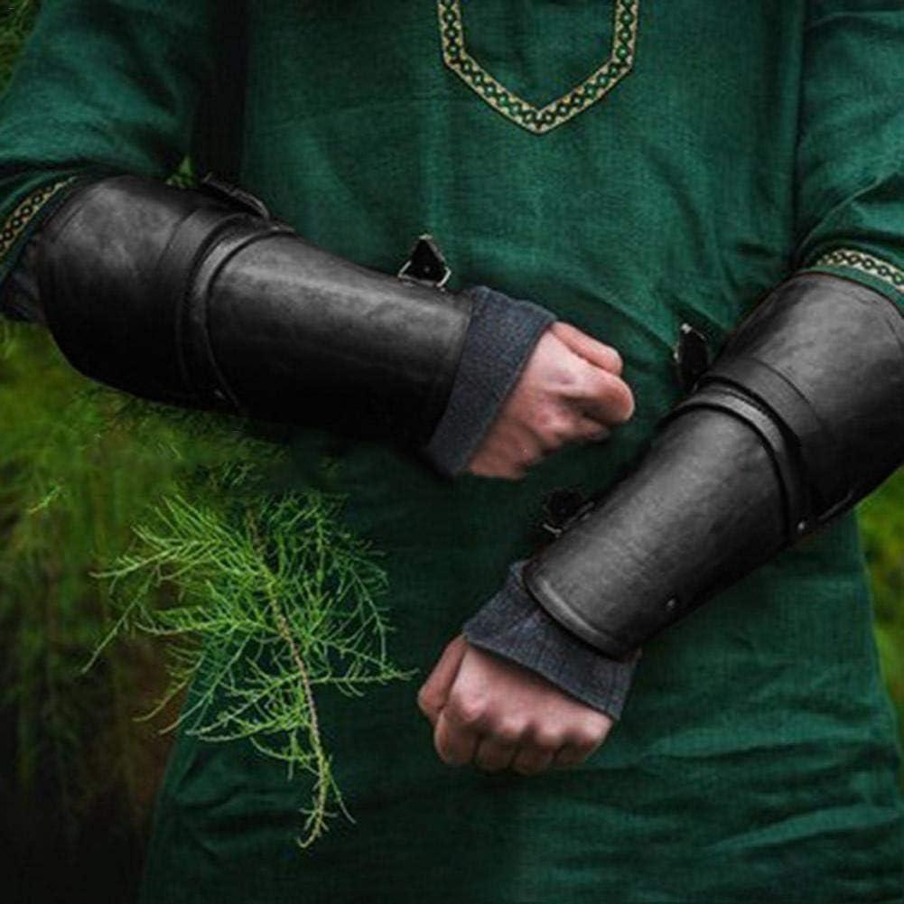 juman634 Guardia de antebrazo de Estilo Medieval Brazo de protecci/ón al Aire Libre de Moda Guantes de Cuero Cosplay Mu/ñequera Equipo de protecci/ón