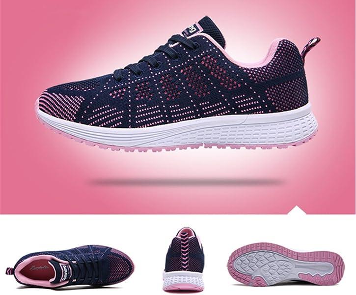 6020962bbdb62d UMmaid Damen Sneaker Laufschuhe Turnschuhe Atmungsaktive Mesh Schnuer  Schuhe Low Top Sportschuhe