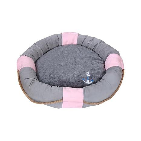 ANLEI Cama para Perros Suave y cómodo extraíble y Lavable Mascotas de Pad Mascotas Nest Gris