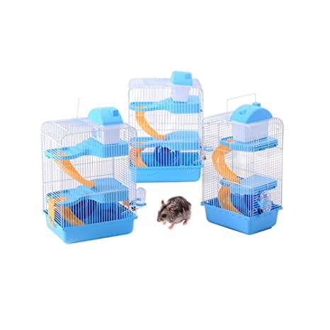 petacc Deluxe hámster jaula Hamster hábitat mascota pequeña jaula ...