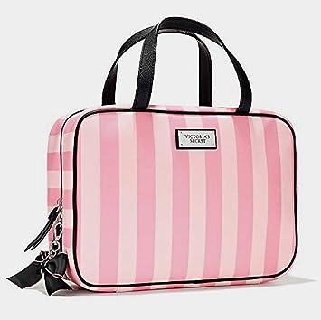 864c7f122a003 Victorias Secret Pink Striped Hanging Makeup Travel Case