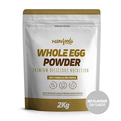 Proteína de Huevo Entero de HSN Foods |Proteína para Vegetarianos |Sustituto del Suero de Leche |100% Albúmina de Clara de Huevo + Yema |Apto para ...