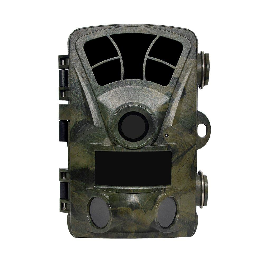 Lenpabyハンティングフットプリントカメラ2グロースーパーパワー赤外線ライト2.4インチスクリーン16MP 1080Pステルス防水野生動物カメラスポーツアクティブナイトビジョン130度広角0.2Sファストトリガー82Ft野生動物の狩猟とホームセキュリティナイトビジョン防水デザイン B07BBMGYYR