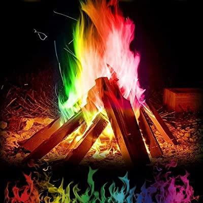 yerflew Multicolor Flame Powder Flame Dyeing Outdoor Bonfire Party Suppl (Multicolor 10g): Toys & Games
