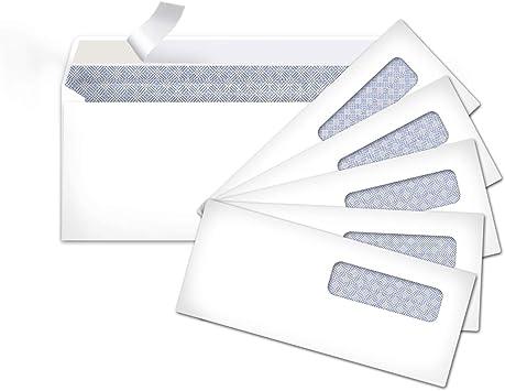 White Gummed Seal Left Window Basics #10 Envelope 500-Pack