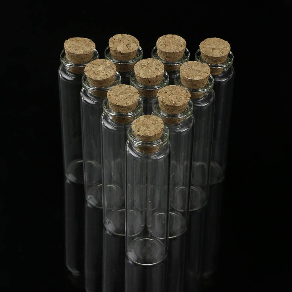 LLLucky 10 St/ücke 20 ml Glas Nachricht Flasche Wunschgl/äser Spice /Ätherisches /Öl Parf/üm Lagerbeh/älter Fl/äschchen Kork Top Stopper Lagerung DIY Handwerk Anh/änger