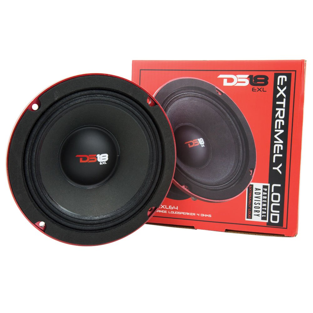 DS18 PRO-EXL64 Midrange 4-Ohm Loudspeaker 300W Rms, 600W Max Power-Set of 1 - 6.5''