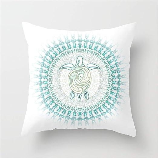 Jack16 - Funda de cojín con diseño de Tortuga y Mandala ...