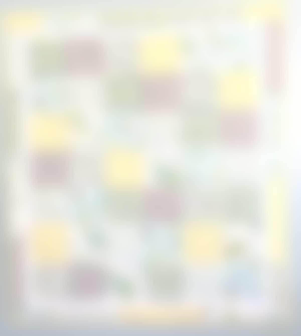 Amazon Patchwork Baby Quilt Gender Neutral Yellow Blue White Blanket Shower Gift Turtles Bees Flower