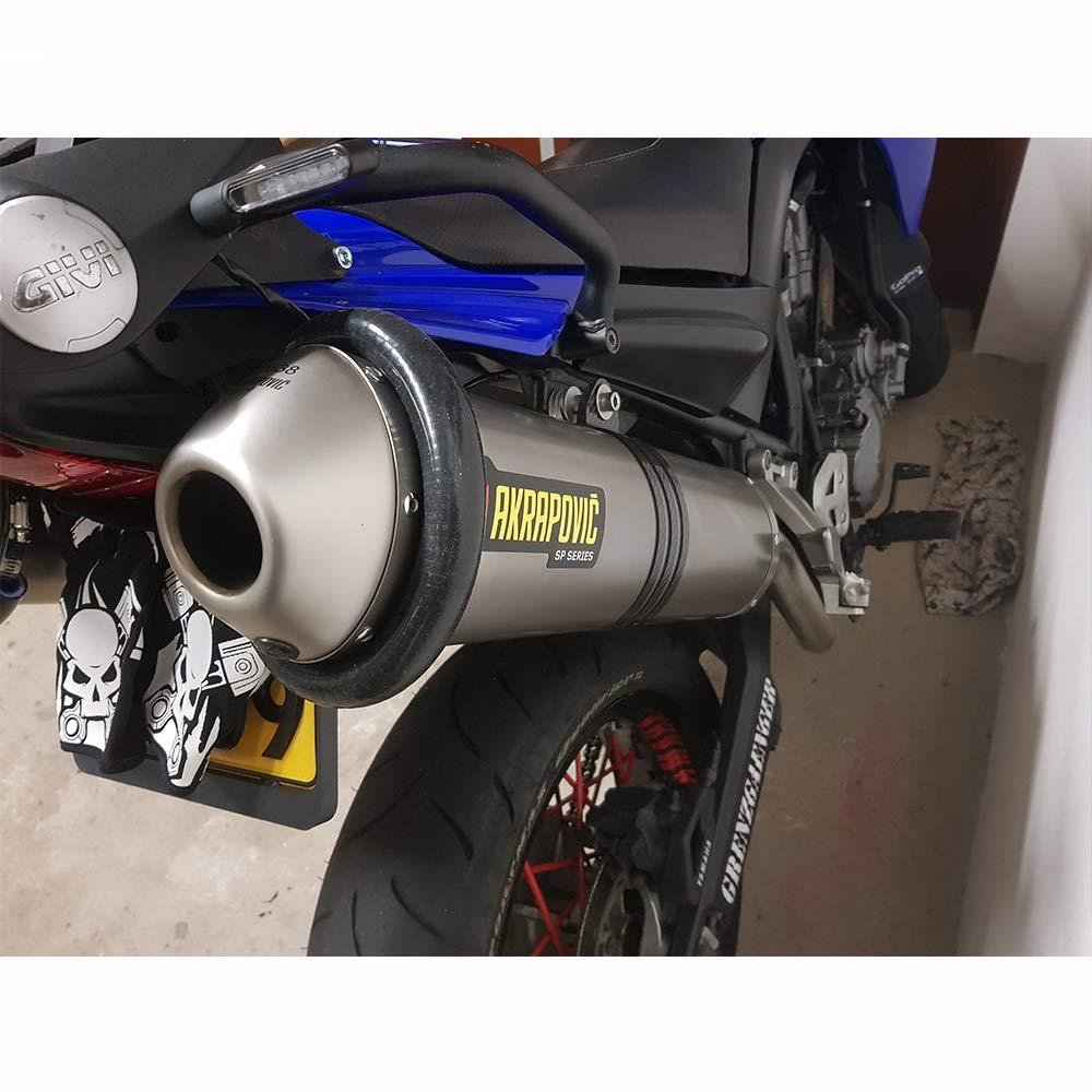 JFG RACING universale silenziatore di scarico moto protettore pu/ò coprire la guardia per dirt bike motocross supermoto endro oro