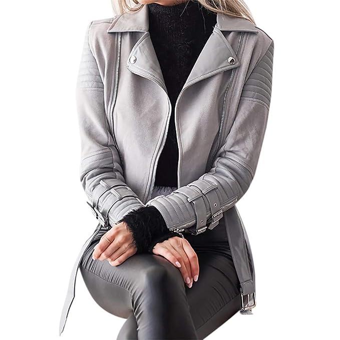 Linlink Venta de liquidación Moda Mujer Invierno Manga Larga de la Capa de la Cremallera del Color sólida Chaqueta Abrigo Outwear Capa: Amazon.es: Ropa y ...