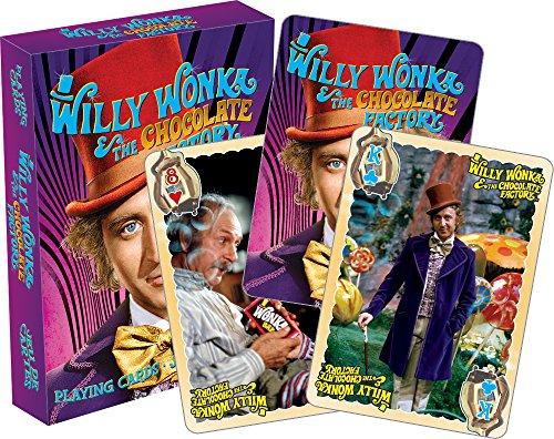 Aquarius Willy Wonka Playing Cards (Charlie And The Chocolate Factory Games For Kids)