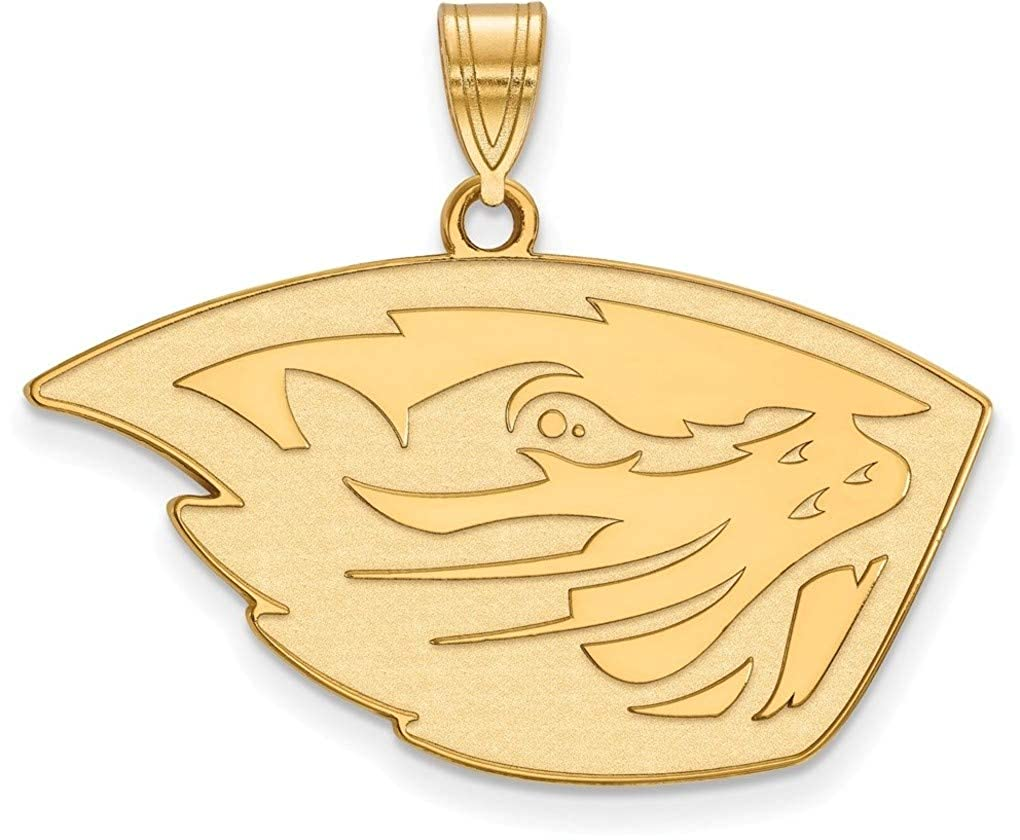 Gold-Plated Sterling Silver Oregon State University Large Pendant by LogoArt