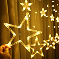 Home Decoration LED Star Lights, Curtain String Lights for Bedroom,8 Lighting Modes,Waterproof Fairy Lights for Bedroom…