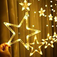 أضواء ليد لتزيين المنزل، أضواء سلسلة ستائر لغرفة النوم، 8 أوضاع إضاءة، أضواء خيالية مقاومة للماء لغرفة النوم، الزفاف…
