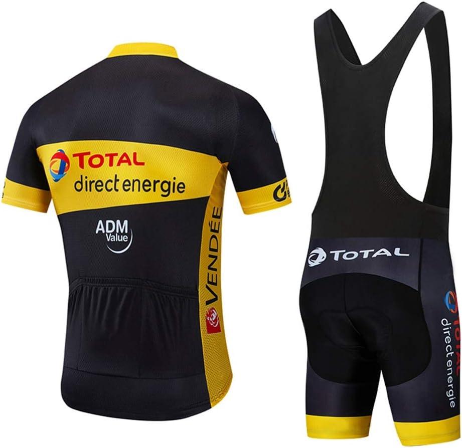 STEPANZU Maillot Ciclismo Hombre Verano Corta Ropa MTB Pantalones Cortos Transpirable Ropa Ciclismo Conjunto