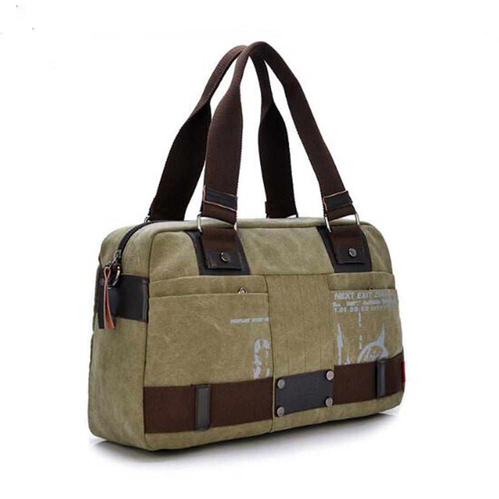 Crystalzhong Canvas Men's Business Package Travel Leisure Single Shoulder Knapsack Handbag