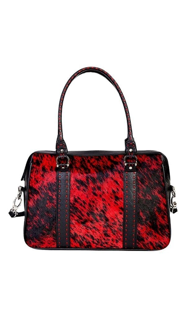 Scully Women's Calf Hair Tote Red One Size
