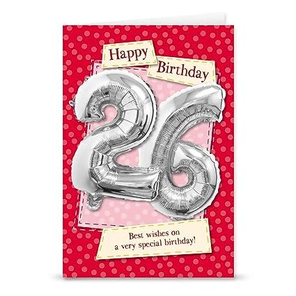 Garlanna G2670 - Tarjeta de felicitación de 26 cumpleaños ...