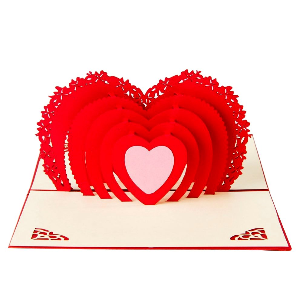 Biglietto Auguri Matrimonio 3D Paper Spiritz Biglietto Auguri Pop Up Cartolina Auguri San Valentino Biglietto di Auguri Pop-up Valentine's Day Thank You Birthday Card