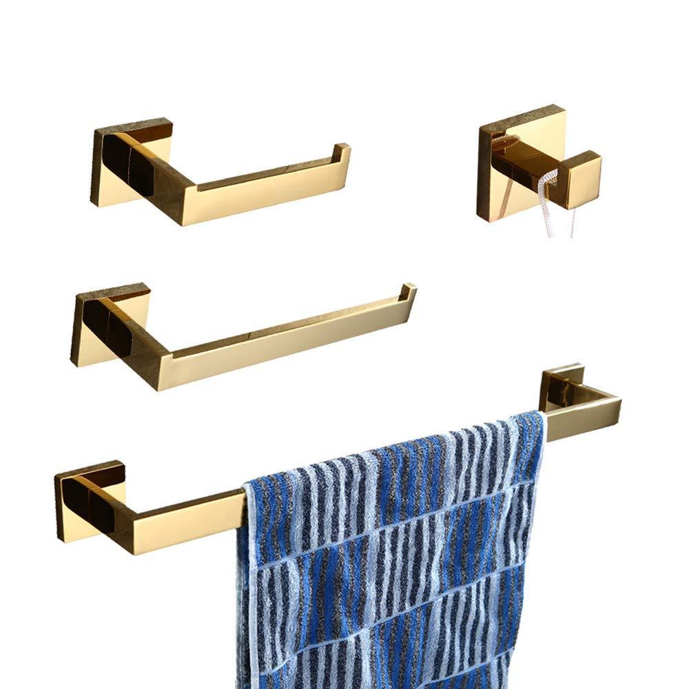 Amazon.com: WINCASE oro una sola barra toallero de barra ...