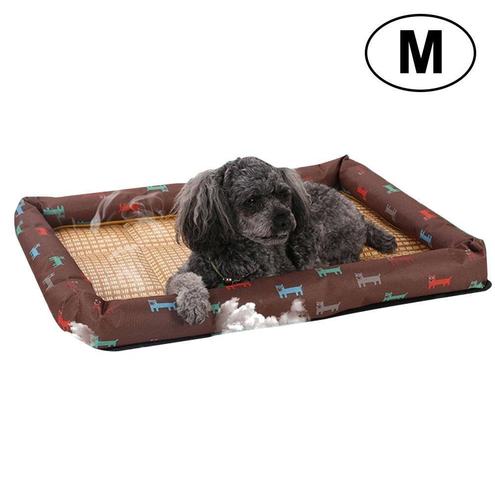 ... ayuda a tu perro a mantenerse fresco, natural y ecológico, fresca pajita de bambú, acogedora alfombrilla para cama de mascota para perros pequeños, ...