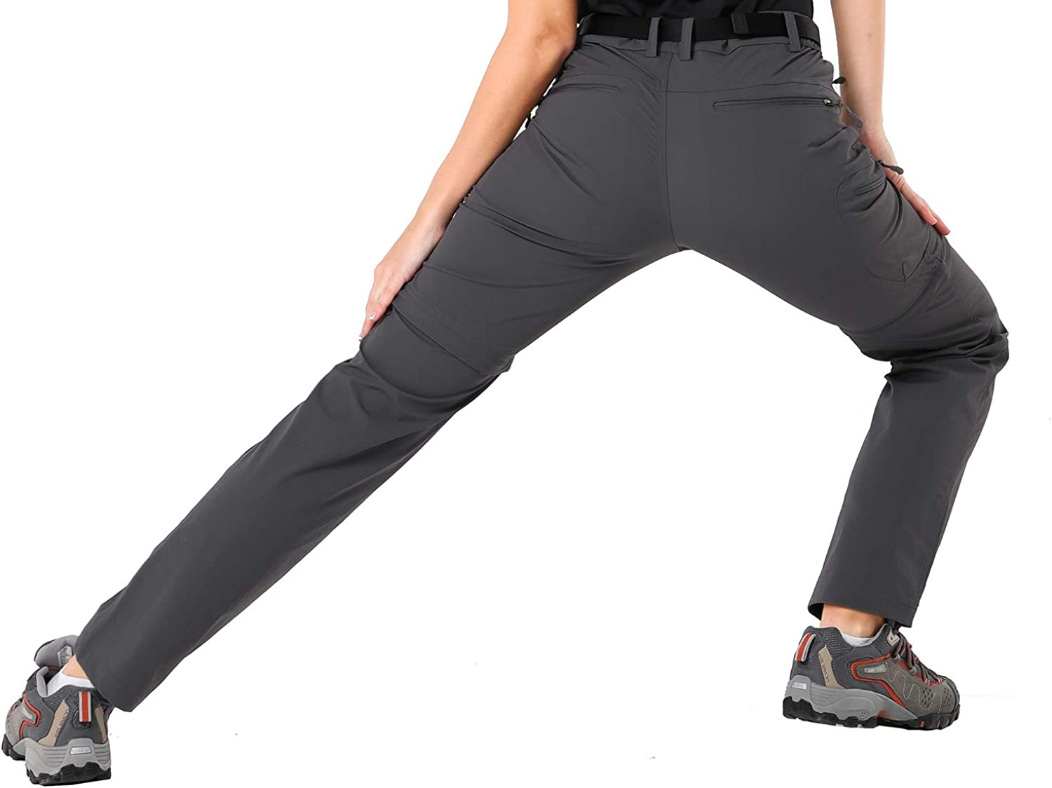 Water Resistant MIER Womens Quick Dry Convertible Cargo Pants Lightweight Stretchy Hiking Travel Pants 5 Zip Pockets