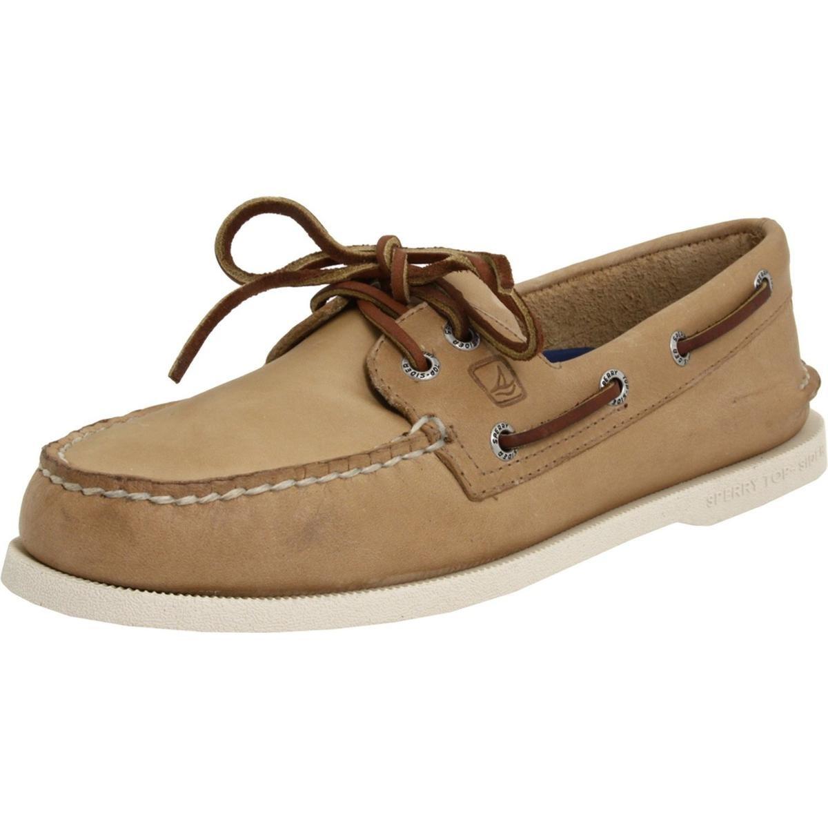 Sperry Top-Sider Men's A/O 2-Eye Boat Shoe, Oatmeal, 10 W US