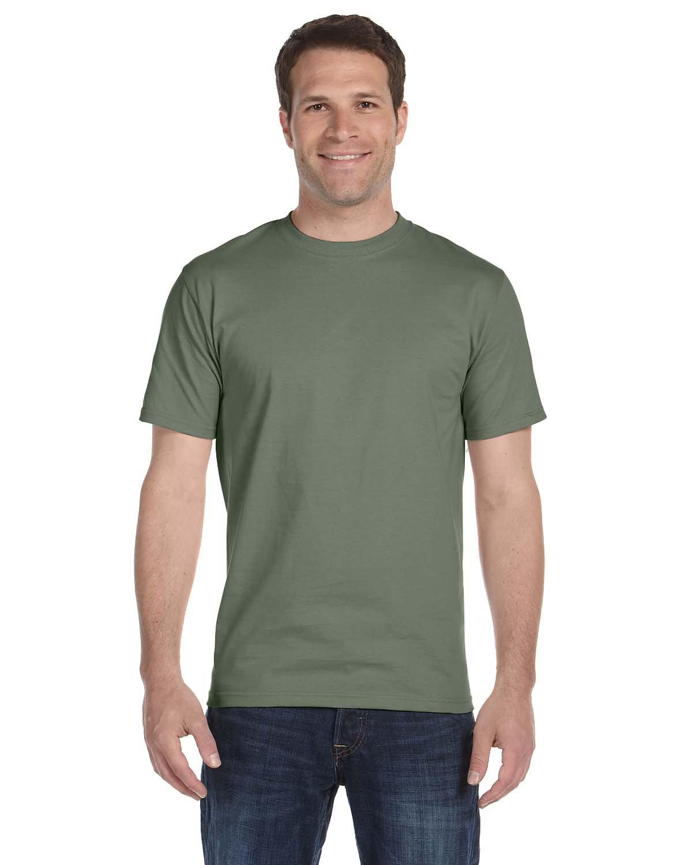 Hanes Beefy-T Men`s Short-Sleeve T-Shirt, Fatigue Green, 2XL by Hanes