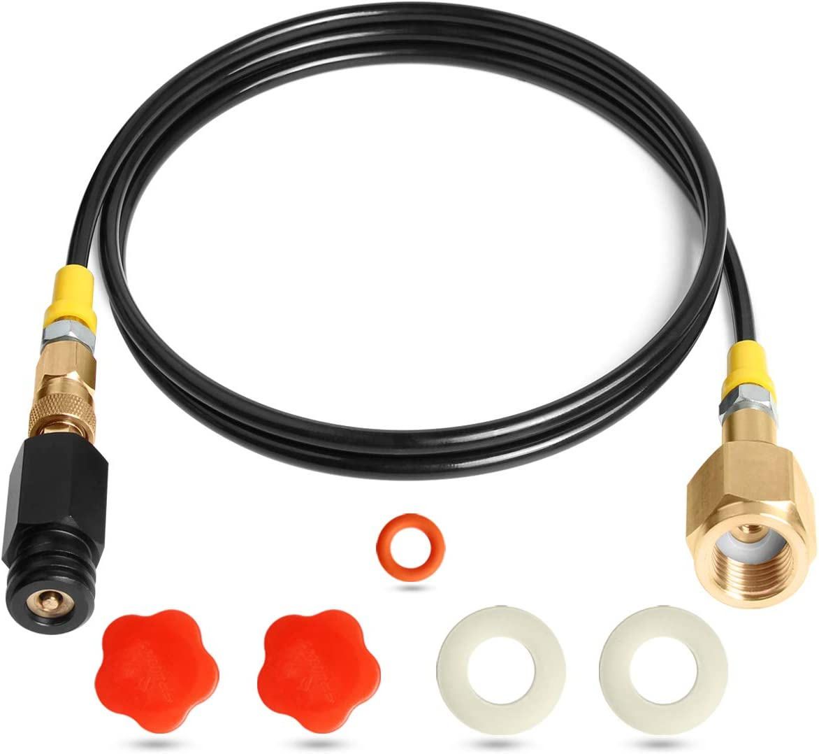 Co2 for Sodastream Adapter -60 inch Paintball Co2 Refill Adapter CGA320 Adapter Hose with Accessories Direct Connect to TR21-4,Co2 Adapter for 20 Lb Tank