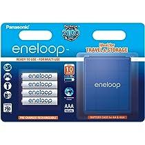 Panasonic Eneloop SY3052708 - Pack 4 Pilas Recargables (AAA, con Estuche): Amazon.es: Electrónica