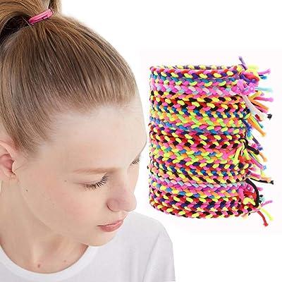 100PCS Women Girls Elastic Rubber Hair Ties Band Rope Ponytail Holder Scrunchie