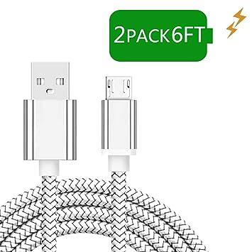 Amazon.com: Wihte - Cable micro USB para Samsung Galaxy J7 ...