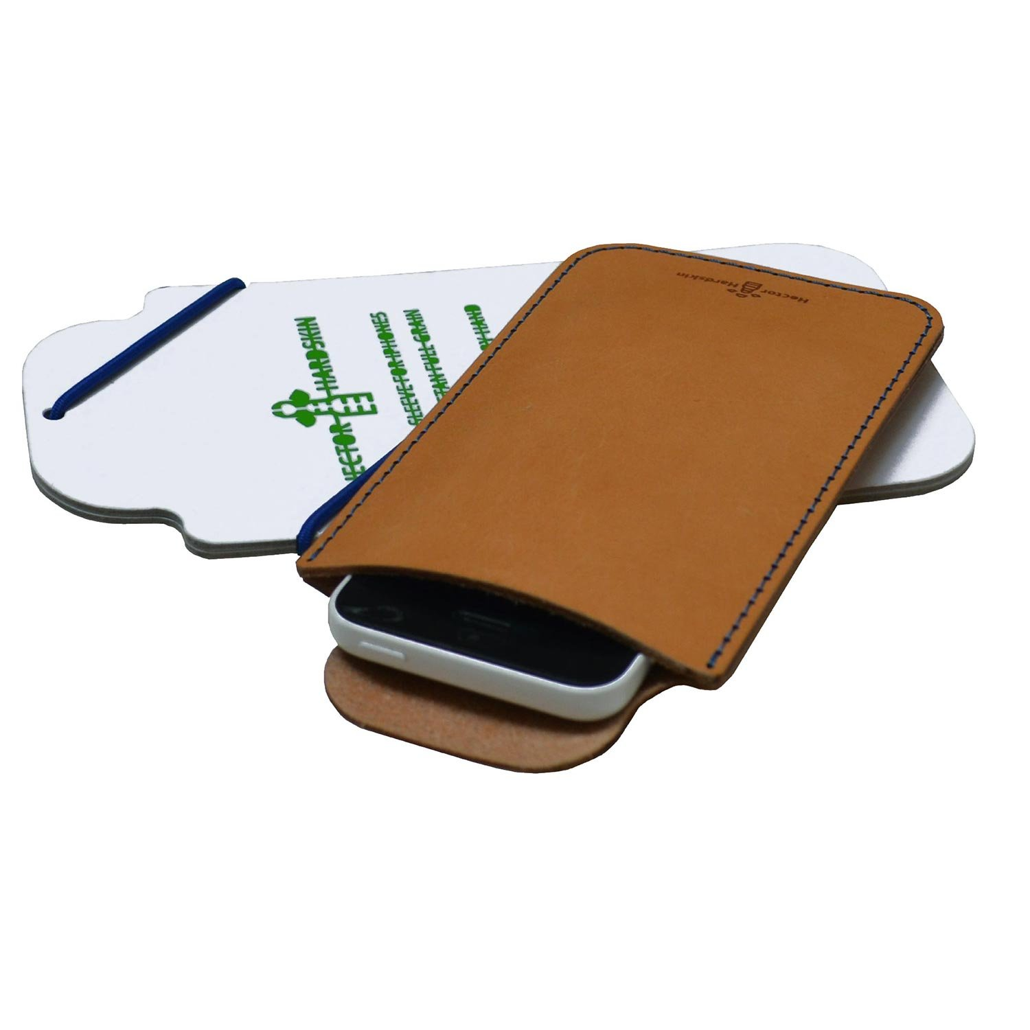 Full grain leather sleeve for iPhone 5/ 5s - Hand stitched